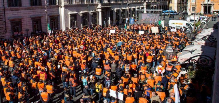 Gilet arancioni, een nieuwe beweging in Italië